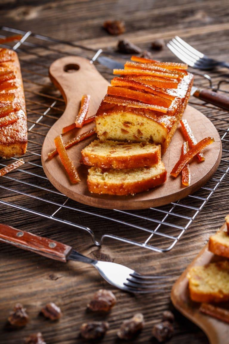 Cake aux écorces d'orange confites