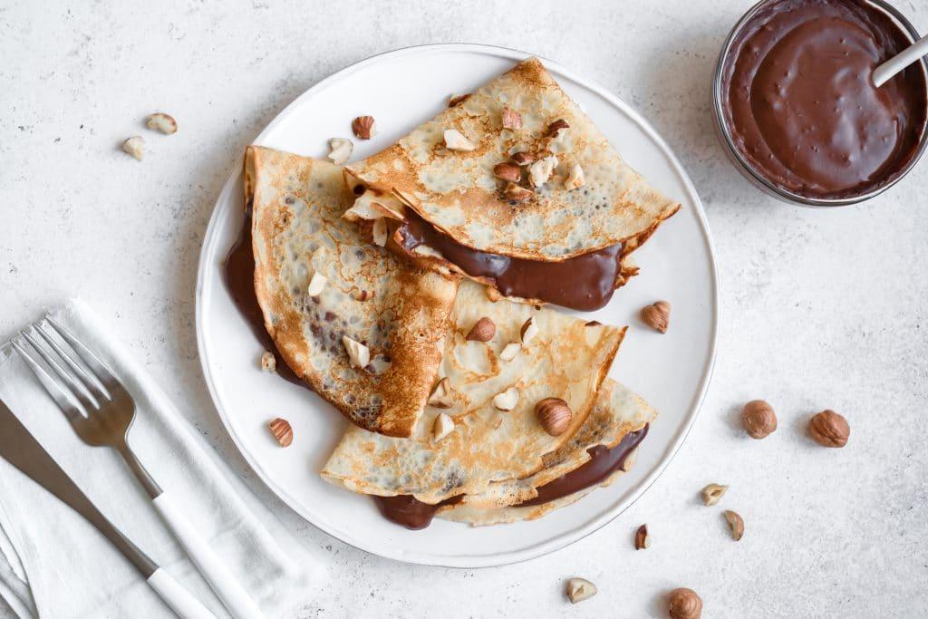 crêpes à la pâte à tartiner maison